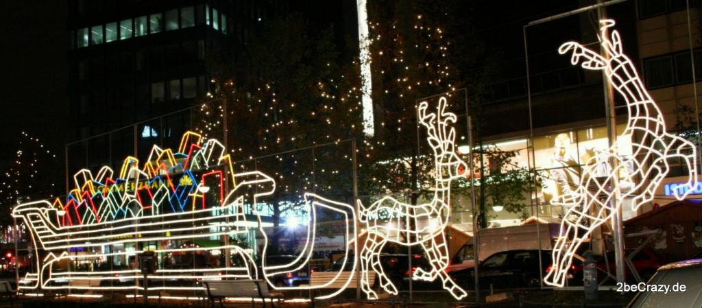 Rentierschlitten Weihnachtsbeleuchtung