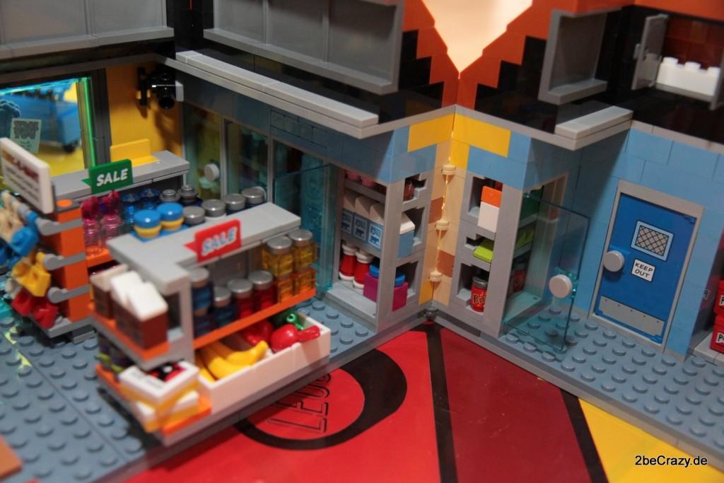 Regale und Kühlregale im Kwik-E-Mart