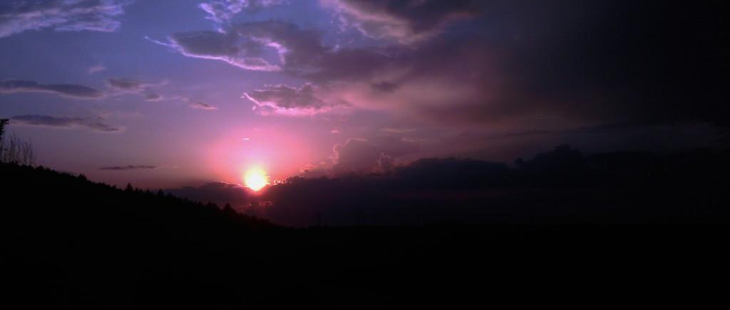 Sonnenuntergang Landschaft Himmel